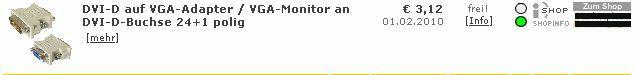 DVI-D auf VGA Adapter