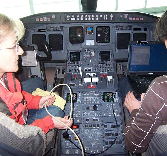 In diesem Fall ging es um ein Navigationskabel in einem Flugzeug, welches sicherheitshalber vor Ort getestet wurde.