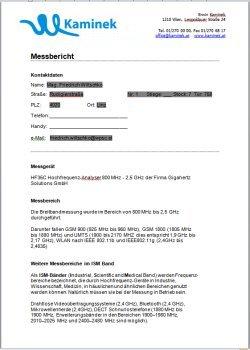 Handystrahlung Messung Bericht