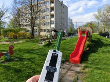 Kinderspielplatz mit sehr guten Mobilfunkwerten